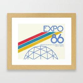Retro Expo '86 Framed Art Print