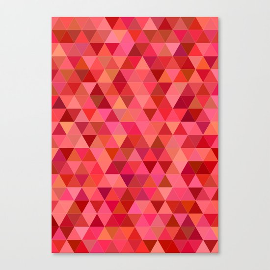 Red triangle tiles Canvas Print