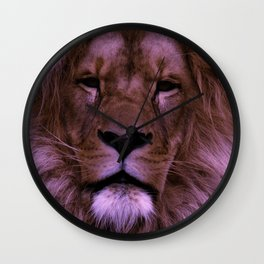 Pink Dark Lion Wall Clock