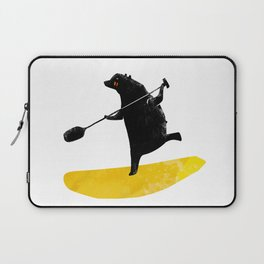 Paddling Bear loves his paddle board and surfing in the ocean. Laptop Sleeve