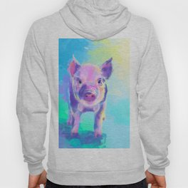 Once Upon a Pig - digital painting Hoody