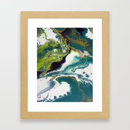 Peacock Island Framed Art Print