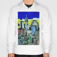 buildings Hoodies featuring buildings by Halley's Coma