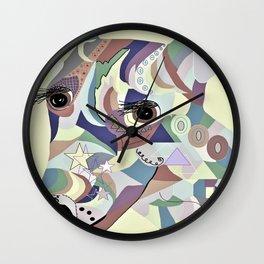 Smooth Fox Terrier Denim Colors Wall Clock