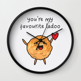 You're My Favourite Ladoo Wall Clock