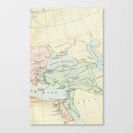 Old Map of The Roman Empire Canvas Print