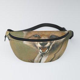Vintage Fox In Suit Fanny Pack