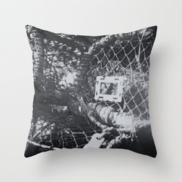 Lobster pots by the sea Throw Pillow