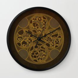 Tick-Tock Poem in Circular Gallifreyan Wall Clock