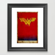 Wonder Logo Framed Art Print
