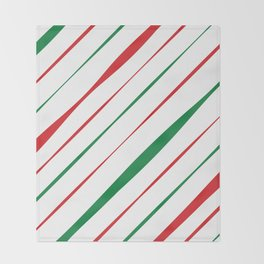 Christmas Stripes Throw Blanket