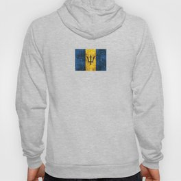 Vintage Aged and Scratched Barbados Flag Hoody
