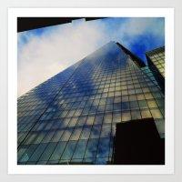 Looking up at The Shard Art Print