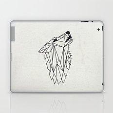 Geometric Howling Wild Wolf Laptop & iPad Skin