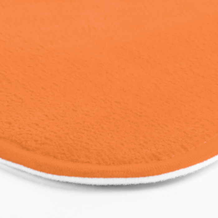 Tangerine - Solid Color Collection Bath Mat