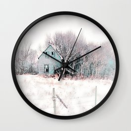 Tattered Curtains Wall Clock