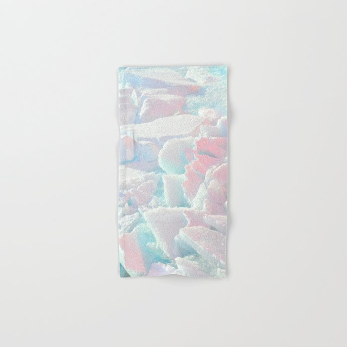 Broken Ice Pastel Texture Hand & Bath Towel