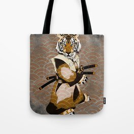Tiger Samurai Ronin Tote Bag