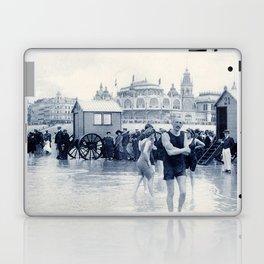 On the beach in 1900, history swimwear Laptop & iPad Skin