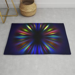 Colourful starburst pattern Rug