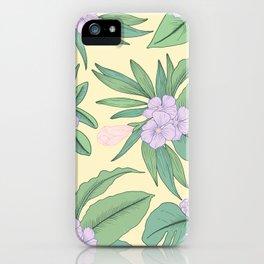 Jungle Daydream Purple Floral Print iPhone Case
