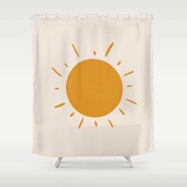 painted sun Shower Curtain