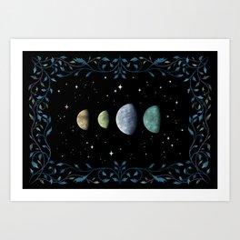 Moons of Jupiter Art Print