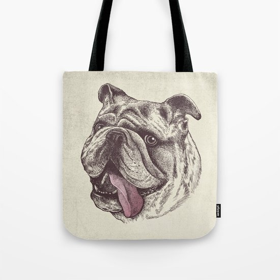 Bulldog King Tote Bag