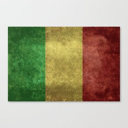 The National flag of the Republic of Mali Canvas Print
