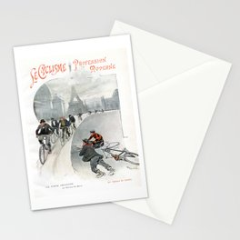 "Modern Professional Cycling ""Le Cyclisme Profession Moderne"" 19th Century French Artwork Stationery Cards"