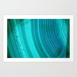 Turquoise Halos Art Print