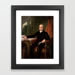 President John Quincy Adams Painting Framed Art Print