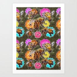 BeeUtiful Spring Art Print