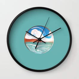 Painting of the Ocean on a Penny Print Wall Clock