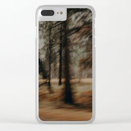 Spooky Forest Trees Clear iPhone Case