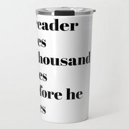 a reader lives Travel Mug