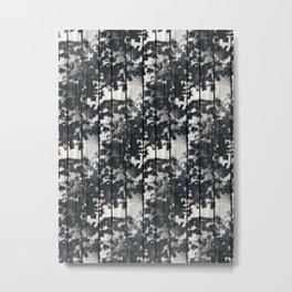 Leaf Shadows on Old Deck Metal Print