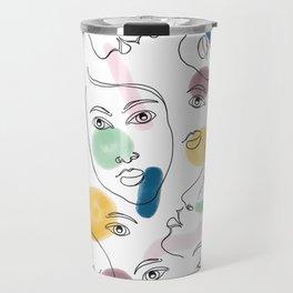 Female Portraits #society6 #figurative Travel Mug