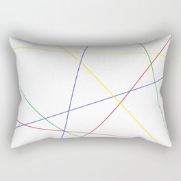 Web of Basic Colors Rectangular Pillow