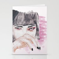 pulp fiction Stationery Cards featuring pulp fiction. by Ruwaa