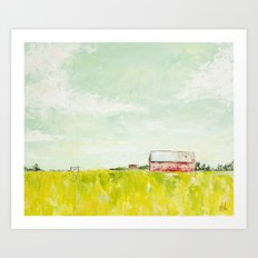 Oil painting house Art Print