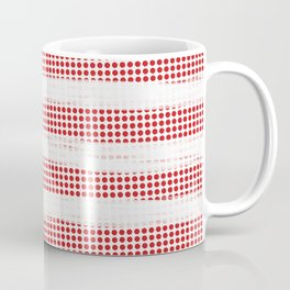 Red Diamonds Gross Stripes Coffee Mug