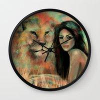 king Wall Clocks featuring King by Slaveika Aladjova