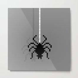 Pixel Spider Metal Print