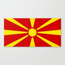 Flag of Macedonia - authentic (High Quality image) Canvas Print