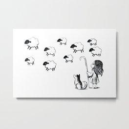 Shepherdess Metal Print