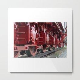 Old Steam Locomotive Train Railway Metal Print