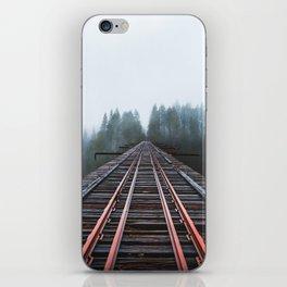 Abandoned Railroad Vance Creek Bridge - Olympic National Park, Washington iPhone Skin