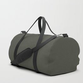 Dark Hunter Green Solid Color Pairs with Sherwin Williams Alive 2020 Forecast Color - Ripe Olive SW6 Duffle Bag