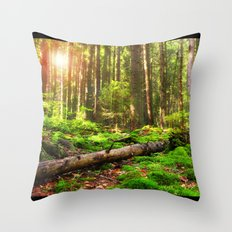 Back to Green Throw Pillow